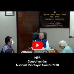 Click here - MPR Speech on the occasion of NPRD 2020